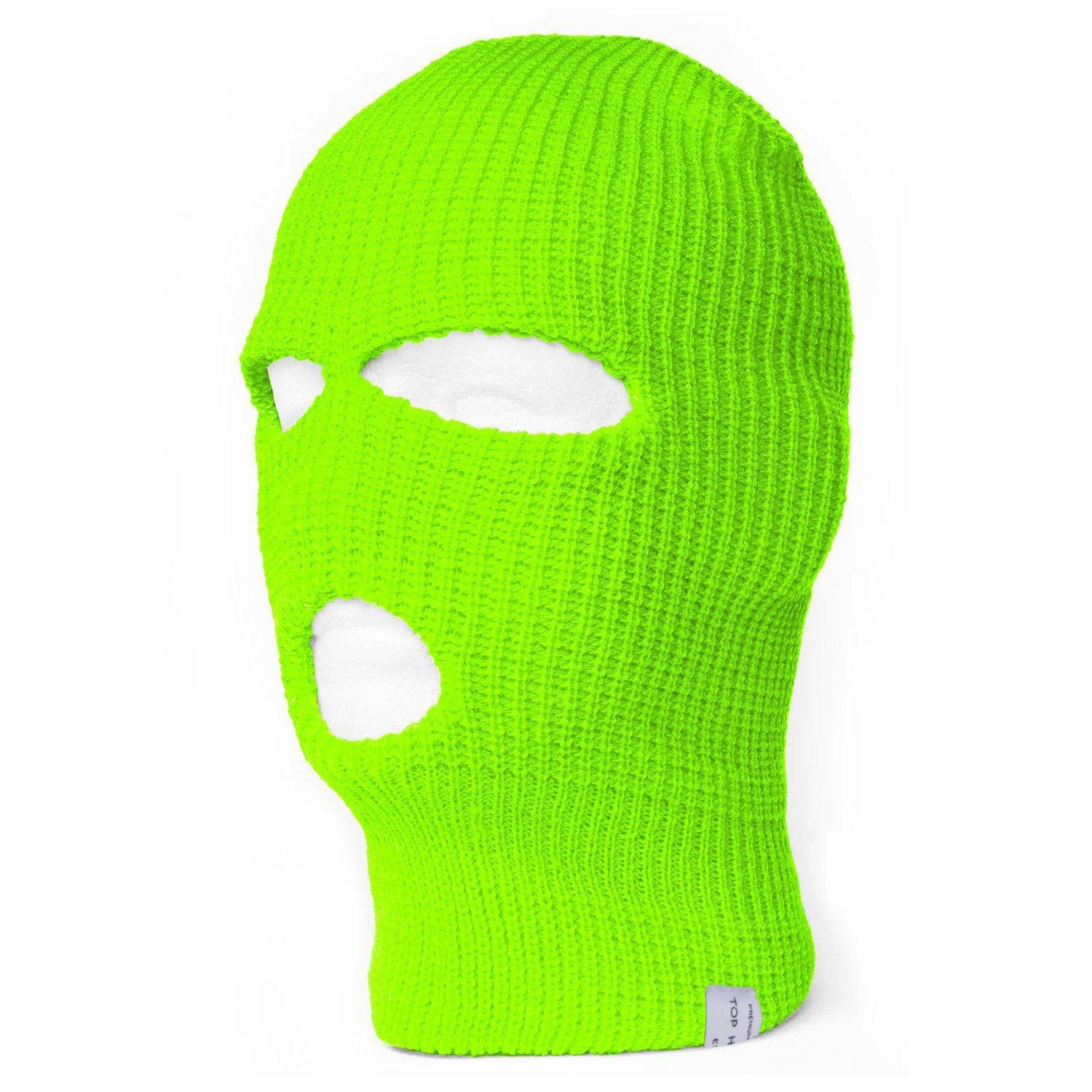 TOP HEADWEAR TopHeadwear 3-Hole Ski Face Mask Balaclava Black