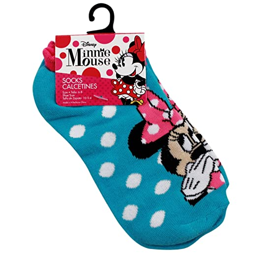 Disney Minnie Mouse Kids Ankle Socks Blue Size 6 - 8