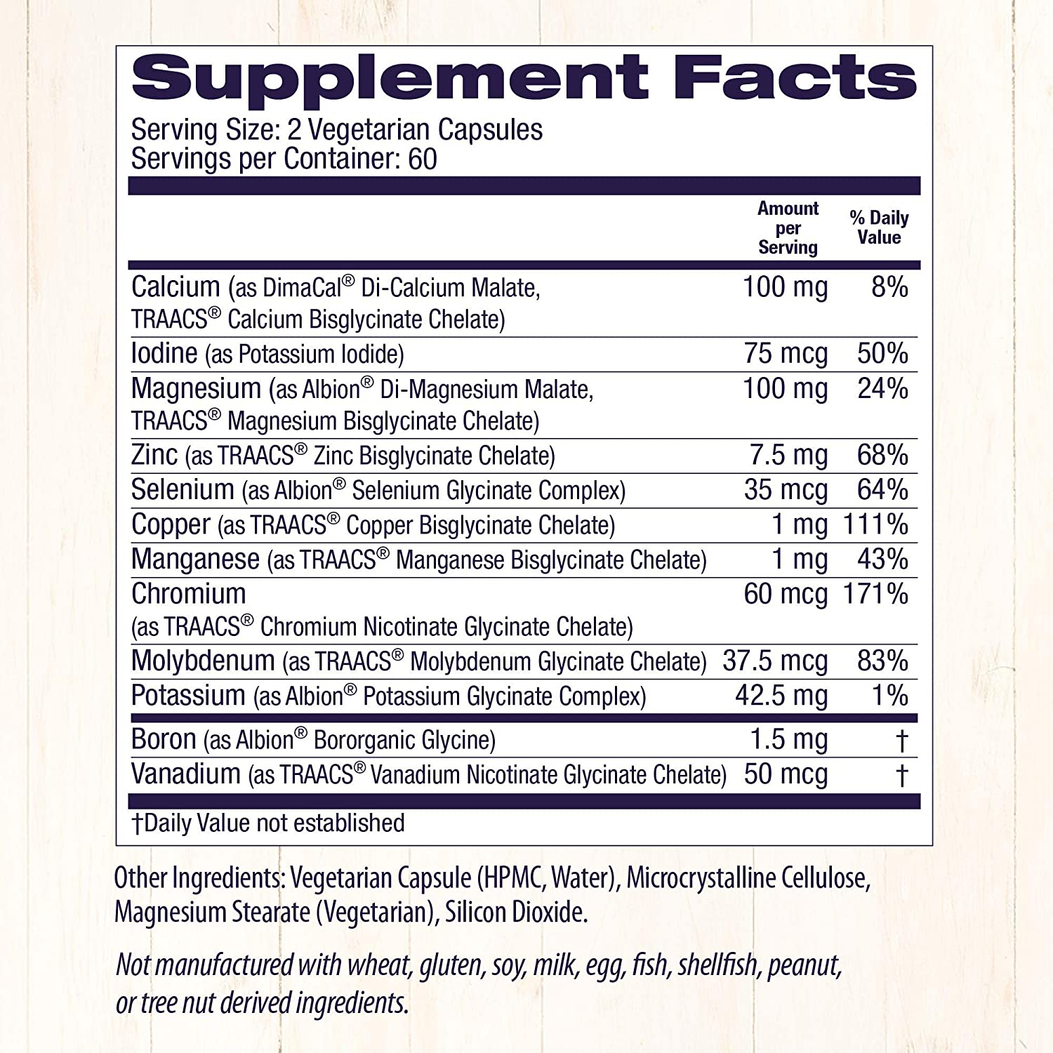 Healthy Origins Chelated Multi Mineral (Featuring Albion Minerals), 120 Veggie Caps: Health & Personal Care