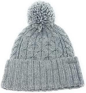 820a12f03 Michael Kors Pom Pom Cable Knit Beanie (Black) at Amazon Women's ...