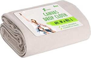 6x9 Canvas Drop Cloth Tarp Canvas Fabric Drop Cloth Curtains Drop Cloths for Painting Painters Drop Cloth Paint Drop Cloth Paint Tarp Painting Supplies Canvas Sheet