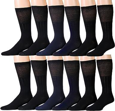 Diabetic  Circulatory Health  Crew  Socks   Lot  of  3-12 pairs  All Sizes