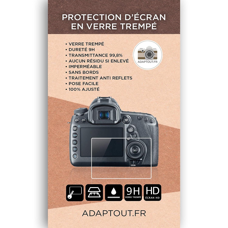 ADAPTOUT Marque FRAN/ÇAISE 5D Protection en Verre tremp/é pour Canon 5D \ Mark \ III \ MK \ IV \ 5DS \ 5DSR Film vitre Protecteur Ultra r/ésistant