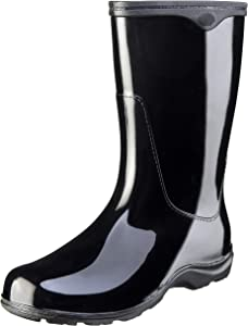 Sloggers Women's Waterproof Rain and Garden Boot with Comfort Insole, Classic Black, Size 8, Style 5000BK08