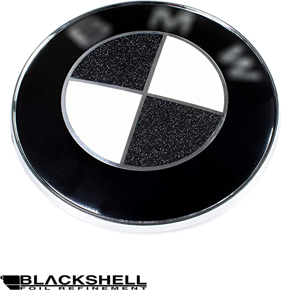 Blackshell Emblem Aufkleber 74 Tlg Set Für Alle Embleme Am Auto In Diamond Schwarz Auto