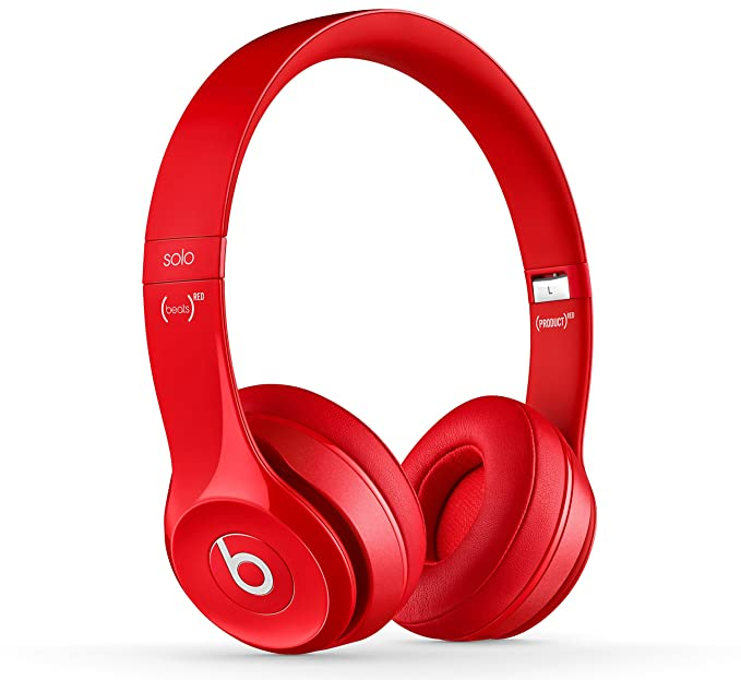 Beats Solo 2 Wireless - Auriculares de diadema abiertos, color rojo