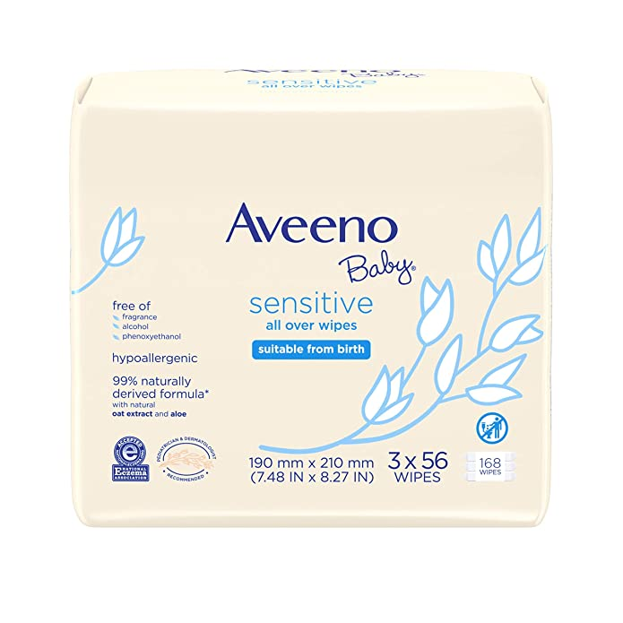 Aveeno Baby Sensitive All Over Wipes - 168ct