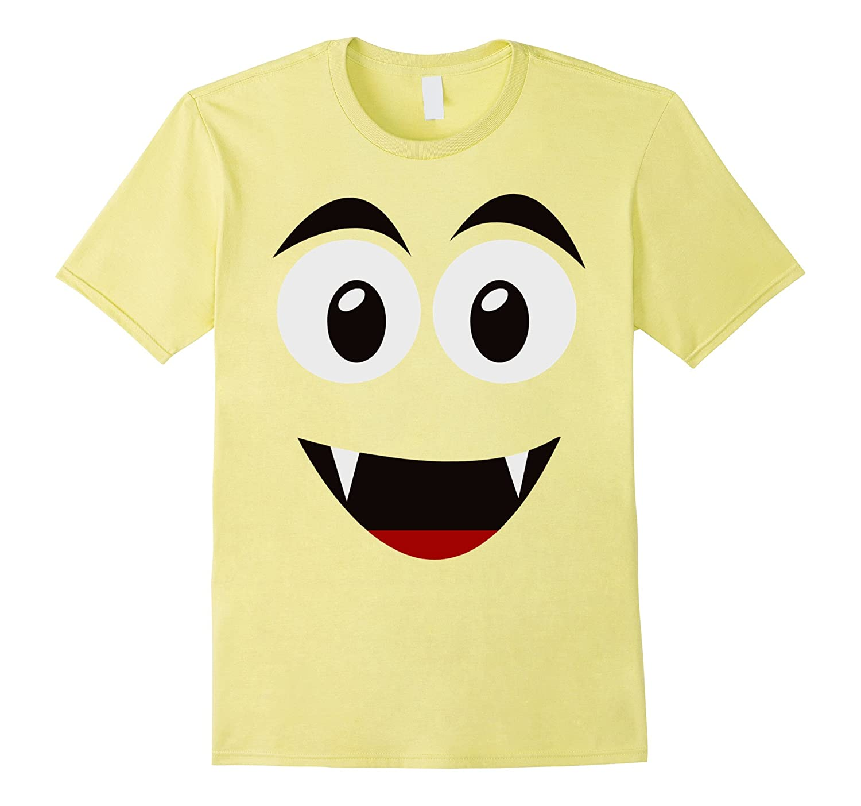 Emoji Smiling Ghost Shirt Yellow Face Funny Costume Gift-T-Shirt