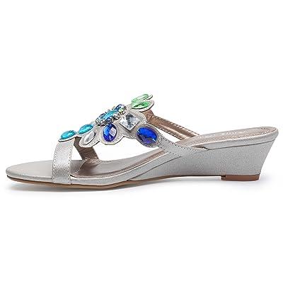Ann Creek Women/'s /'Ralph/' Gemstone Metallic Wedge Sandals