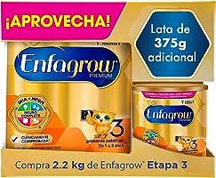 Leche de Crecimiento para Niños mayores de 12 Meses, Enfagrow Premium Etapa 3, En Polvo Paquete especial con 2200 gramos...