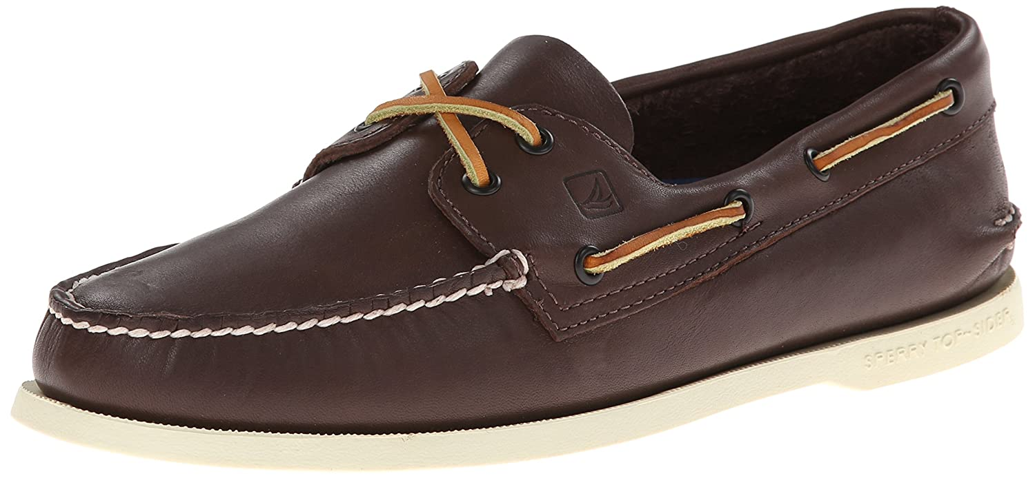 Sperry Top-Sider Men's Authentic Original 2-Eye Boat Shoes, Genuine All Leather and Non-Marking Rubber Outsole 11.5 D(M) US|Brown/Buck Brown