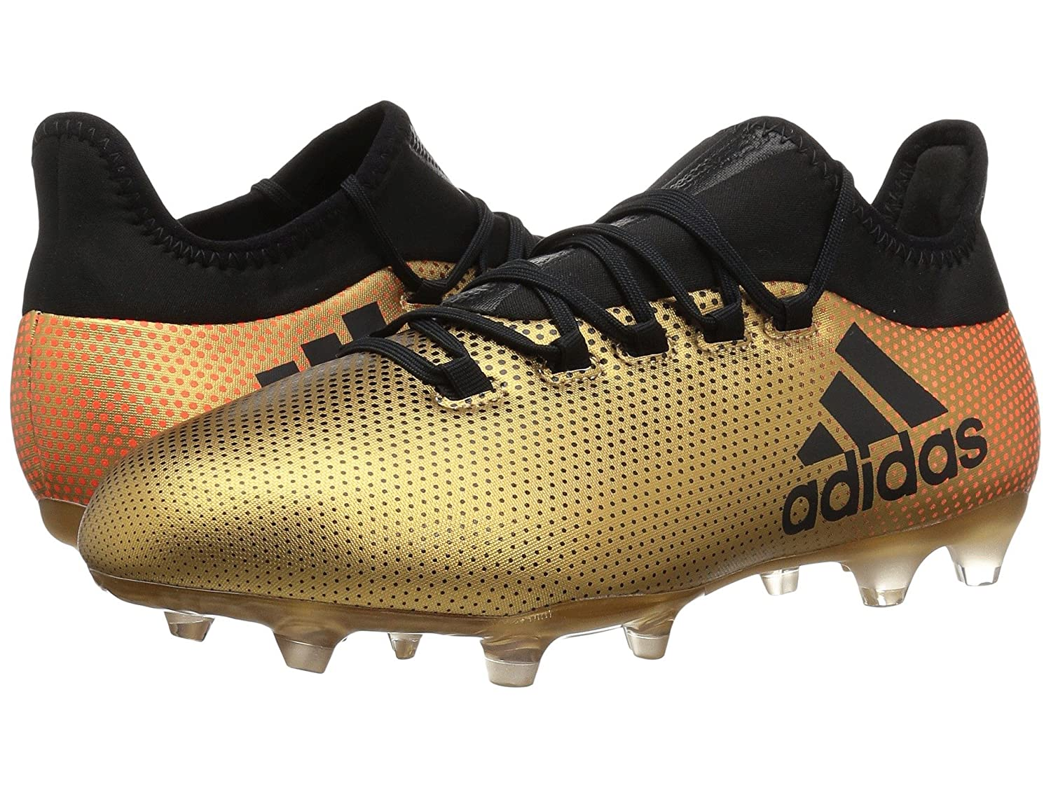 (アディダス) adidas メンズサッカーシューズ靴 X 17.2 FG Tactile Gold/Black/Solar Red 11 (29cm) D Medium B07BQPP7PZ