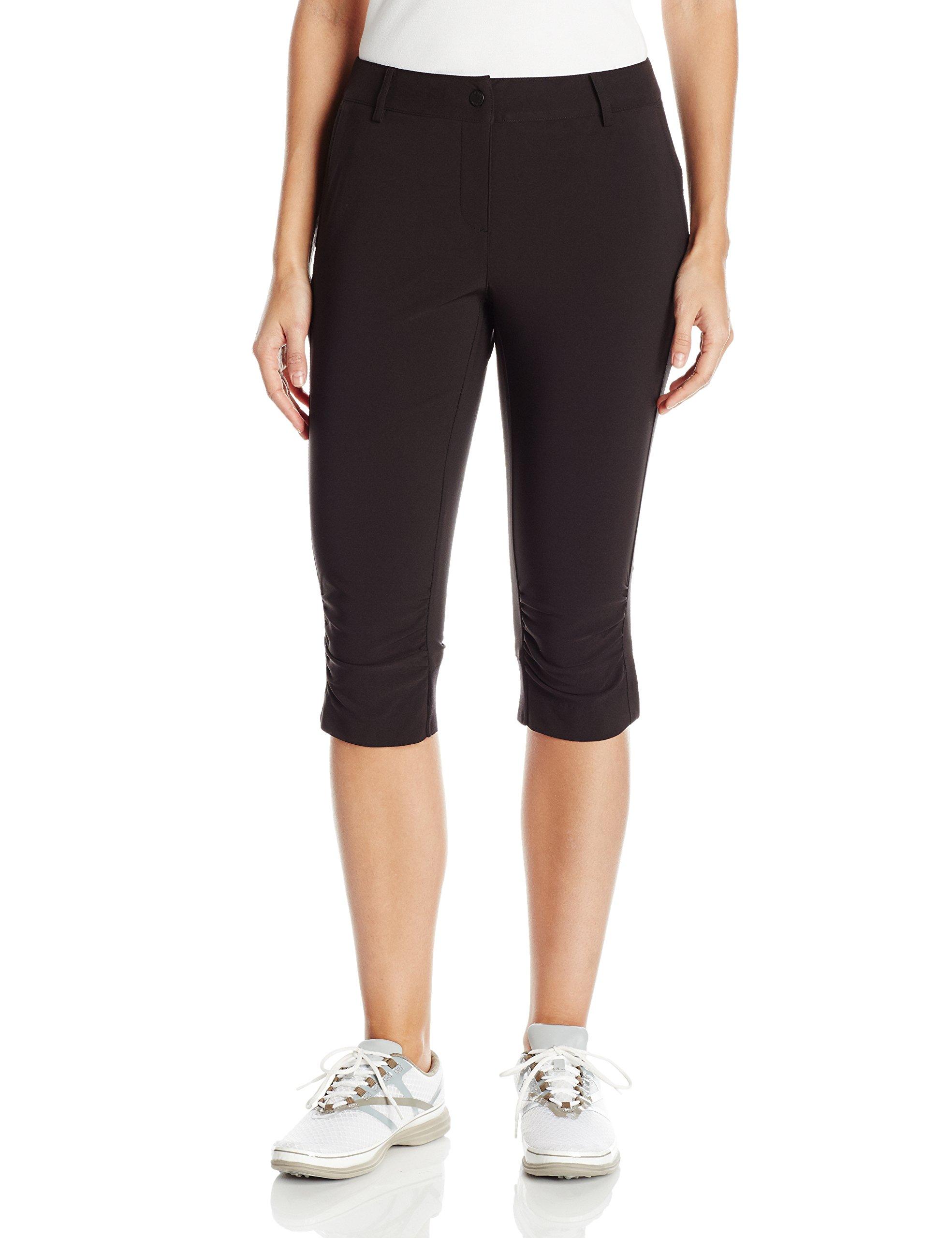 Cutter & Buck Annika Women's Moisture Wicking, UPF 50+, Stretch Morgain Long Short, Black, 2