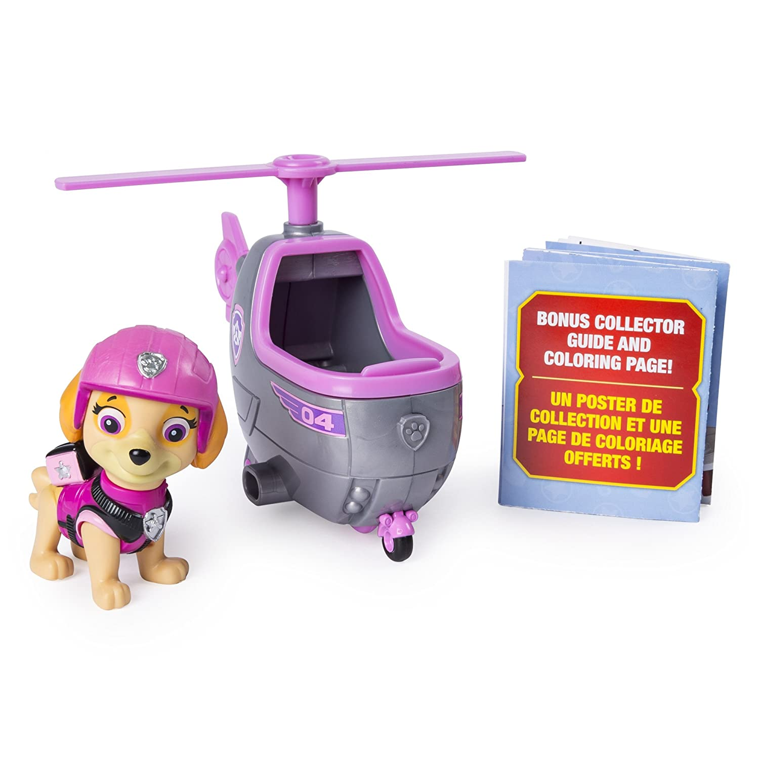 Paw Patrol 20101380-6046667 Ultimate Rescue, Skye'S Mini Helicopter with Collectible Figure, for Ages 3 and Up