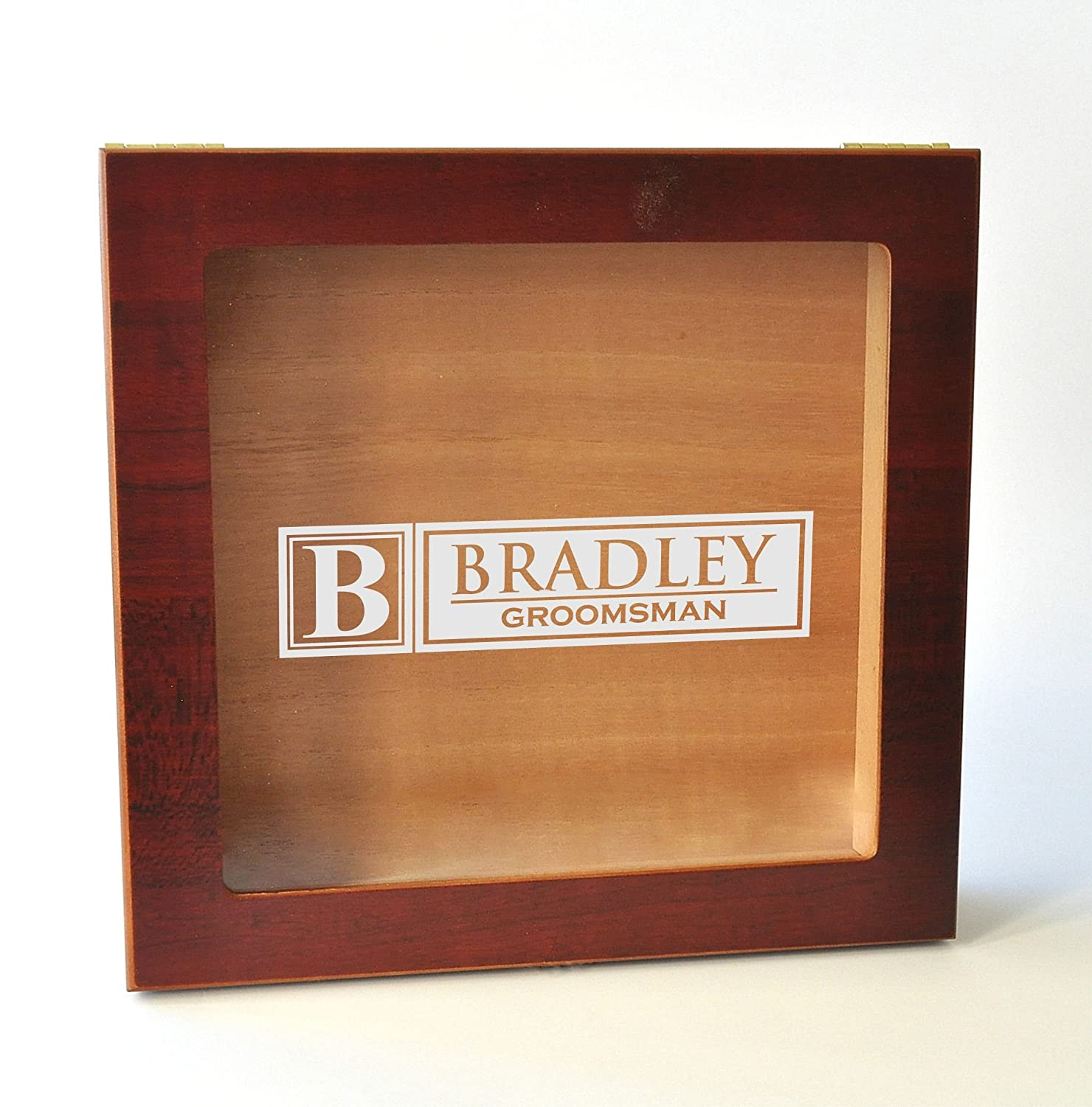 Personalized Glass Top Humidor with Custom Engraving