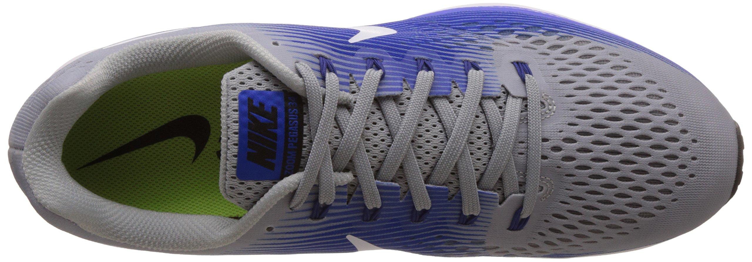 NIKE Mens Air Zoom Pegasus 34 Running Shoe (11 M US, Wolf Grey/White/Racer Blue) by Nike (Image #7)