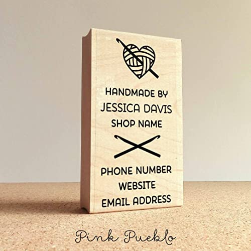 Amazon personalized crochet business card stamp handmade by personalized crochet business card stamp handmade by business card rubber stamp colourmoves
