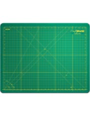 Crafty World Green 18 x 24 Inches Self Healing Cutting Mat - Durable Double Sided Non-Slip 3mm Thick Professional Gridded Rotary Mat for Quilting, Scrapbooks, Sewing, Gunpla, and Arts & Crafts