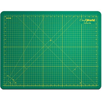 Amazon.com: Crafty World Professional Self-Healing Double Sided ... : quilting cutting mats - Adamdwight.com