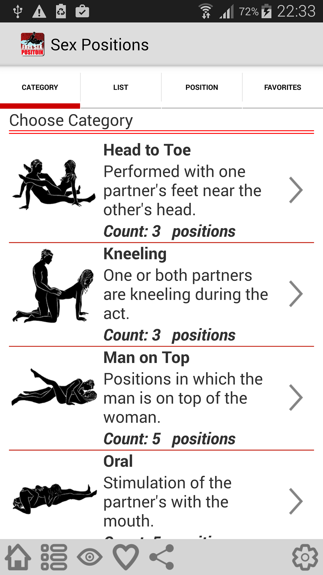 What are some different sex positions