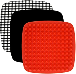Air Fryer Accessories Compatible with Chefman, Dash, Philips, Habor, GoWise USA, Paula Deen, Yedi, Power, Chef Di Cucina, Zokop +MORE | No-Mess Mats for Cooking and Baking