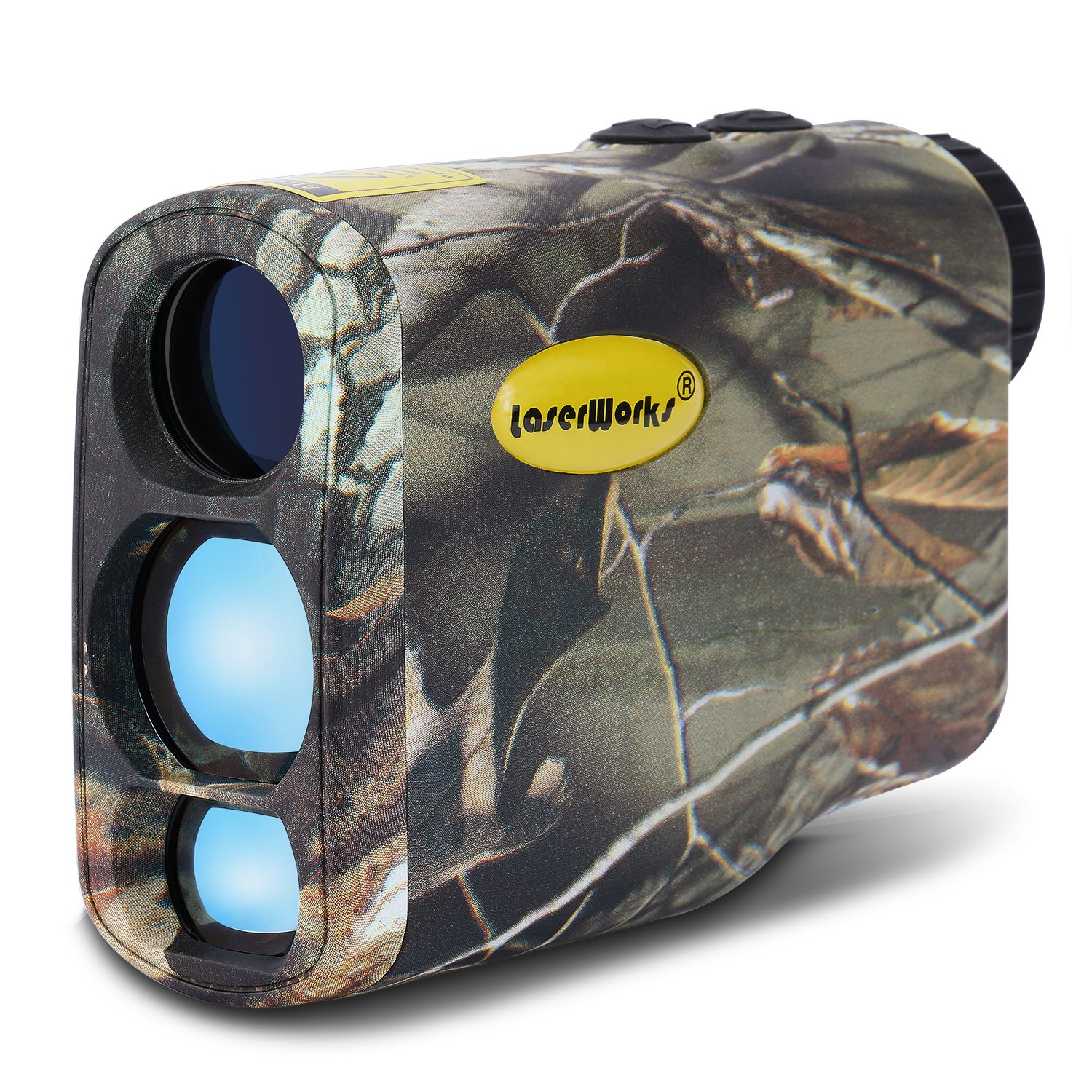 LaserWorks LW1000SPI Laser Rangefinder for Hunting Golf,Fog Measurement,Waterproof Camouflage by LaserWorks