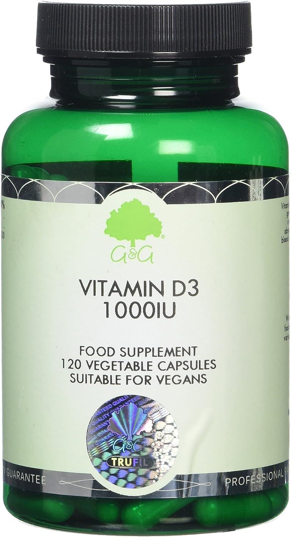 G&G Vitamins Vitamin D3 1000iu Capsules