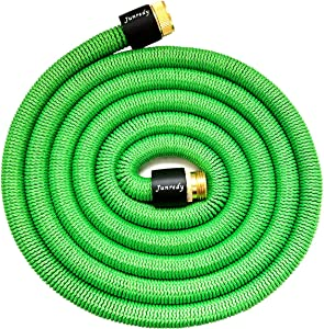 "Junredy 25ft Water Hose Expandable Garden Hose - Durable 3750D Fabric | 3/4"" Metal Connectors with Protectors 