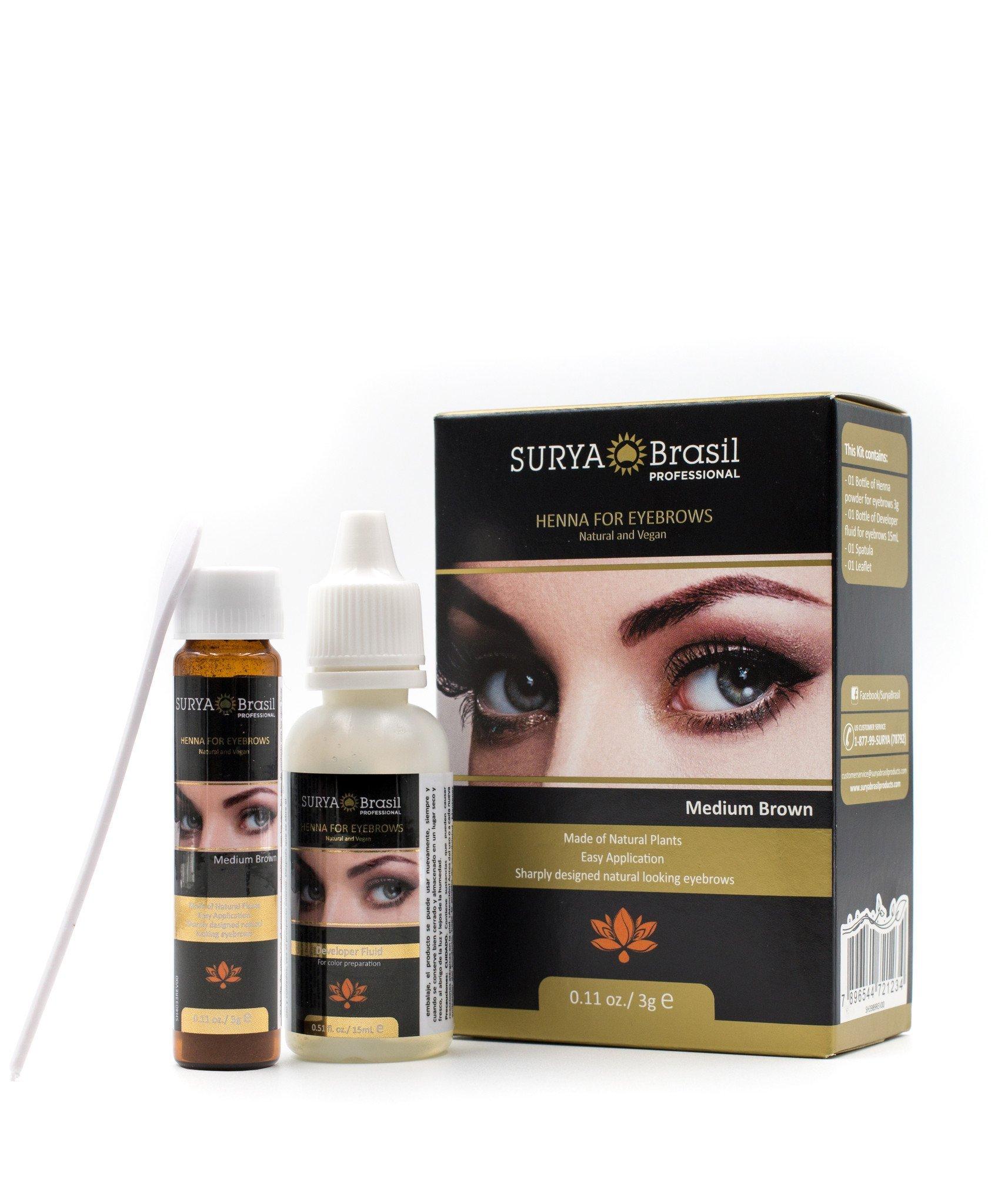 Amazon Surya Brasil Henna For Eyebrows With Free Sleek