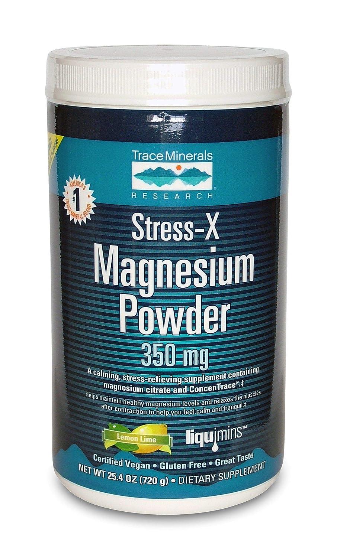 El estrés-X, magnesio en polvo, lima limón, 350 mg - Investigación de Minerales Traza: Amazon.es: Salud y cuidado personal
