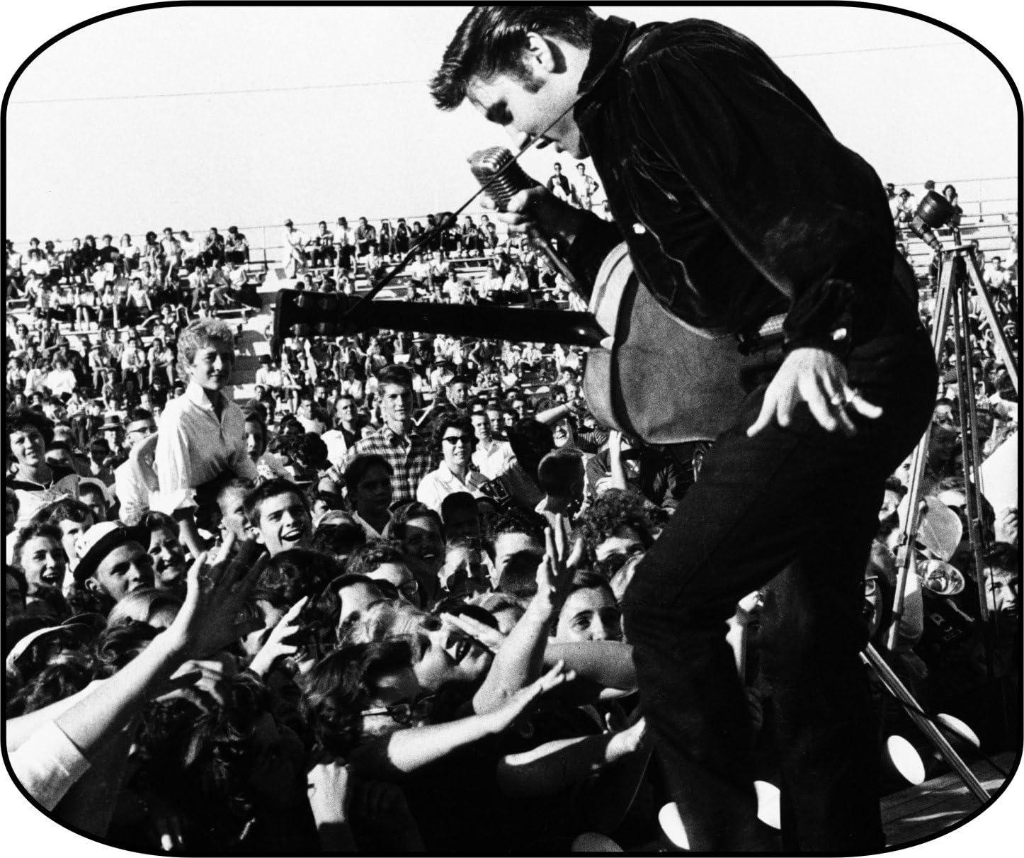 Elvis On Stage 1956 Tupelo Concert Mouse Pads Mousepad, Computer, Desktop Supplies Unique Photo Art