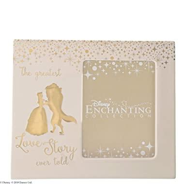 Enchanting Disney Belle Wedding Photo Frame
