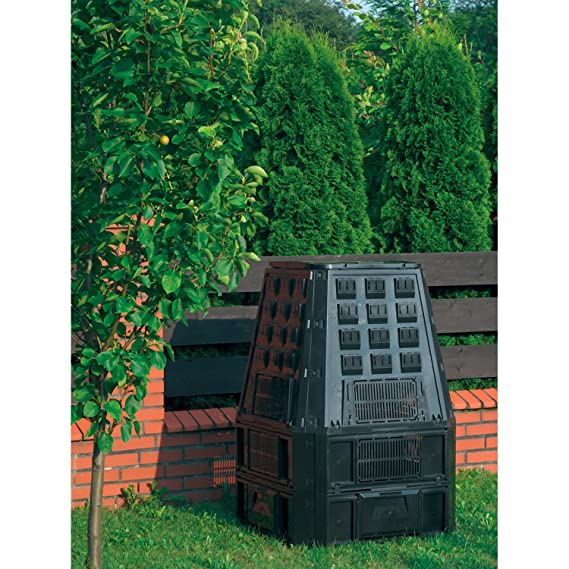 Jardín compostador 850l Negro termocompostador (Compost ...