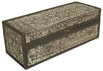 Wald Importen Silber Metall Und Holz Dekorative Aufbewahrungsbox