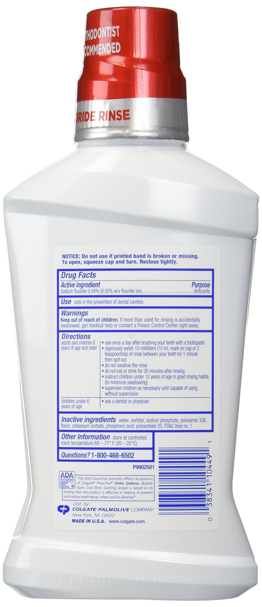 Colgate Phos Flur Anti Cavity Fluoride Rinse, Mint, 16.9 Ounce by Phos Flur (Image #4)