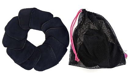 Toallitas de démaquillage, toallitas cosméticos, (negro), Super Soft – 5 pares