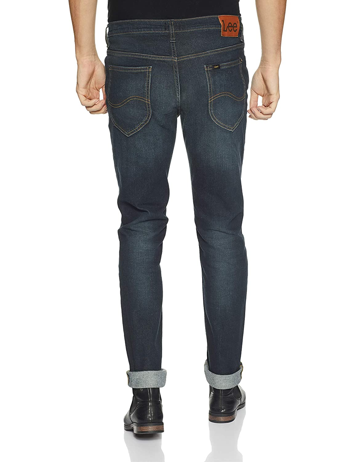 1da2fa7d Lee Men's (Bruce) Skinny Fit Mid Rise Jeans: Amazon.in: Clothing &  Accessories