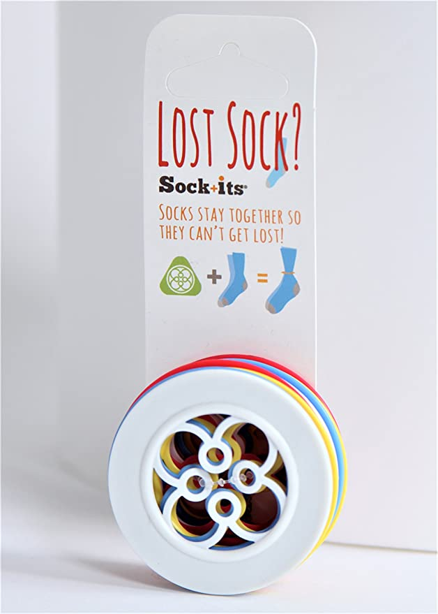 Amazon.com: Sock+its NO Sock Left Behind - Sock Keeper - Sorter - (8 Pack) Circle Shape in Mixed Colors: Home & Kitchen