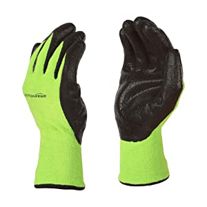 AmazonBasics Bamboo Working Gloves with Touchscreen, Green, XXL