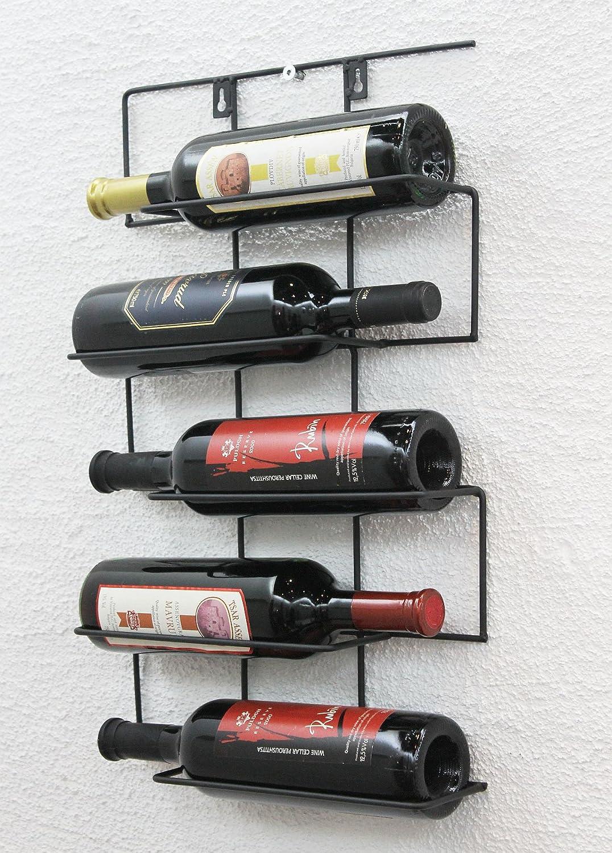 DanDiBo Casier à Vin Cinco Cm HX Métal Portebouteilles - Porte bouteilles mural