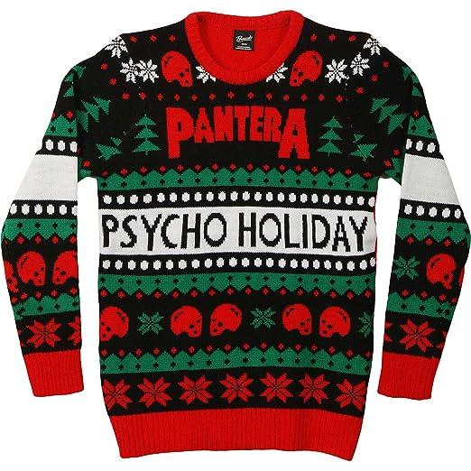 Amazoncom Pantera Mens Ugly Christmas Sweater Sweatshirt Large