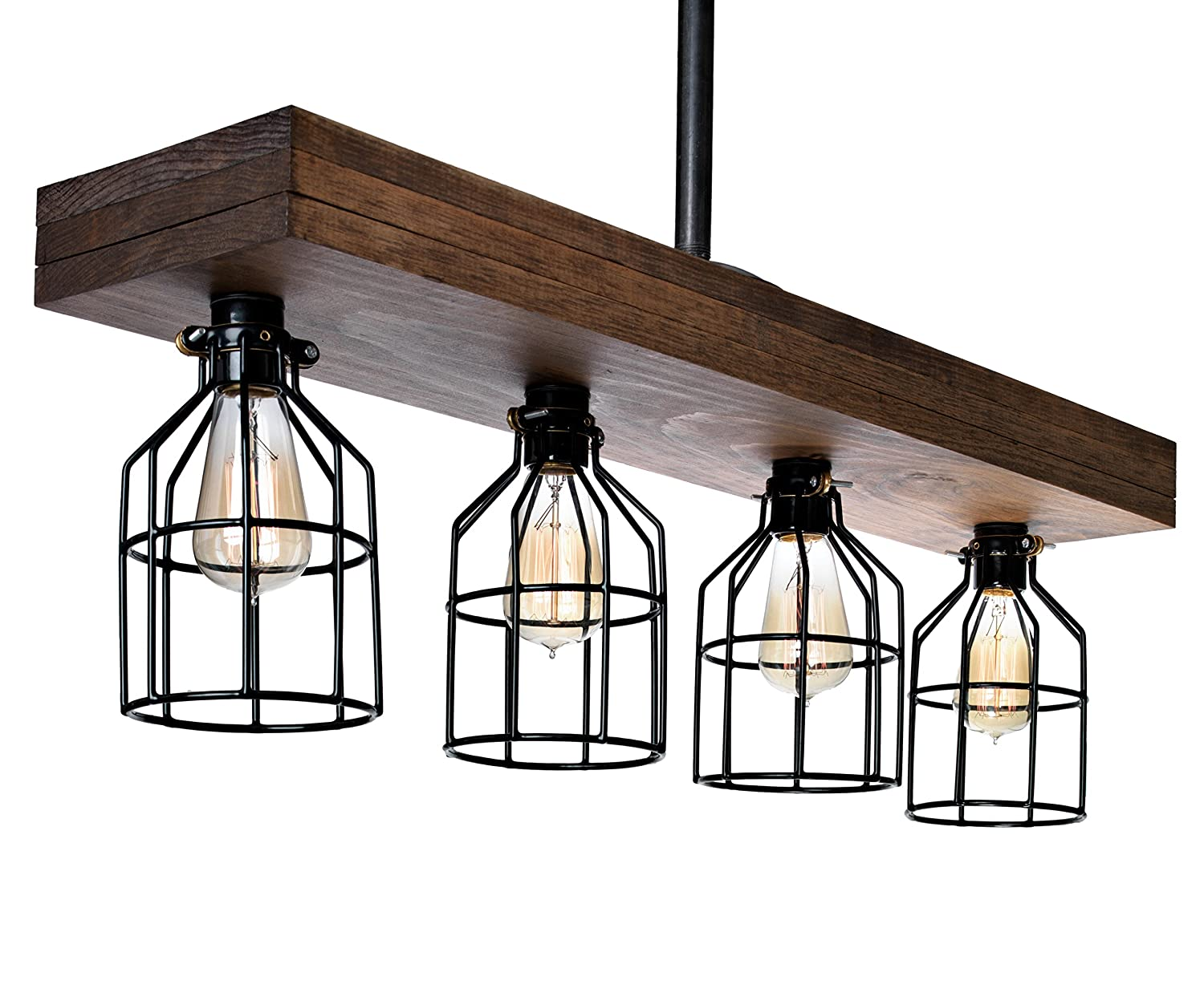 Farmhouse lighting triple wood beam rustic decor chandelier light rustic lighting for kitchen island lighting dining room bar industrial and billiard