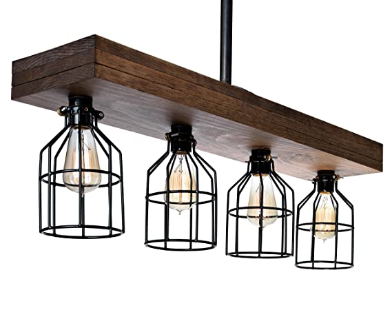 Merveilleux Farmhouse Lighting Triple Wood Beam Rustic Decor Chandelier Light   Great  In Kitchen, Bar,