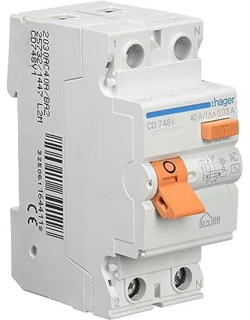 Hager CD748V Interruptor Diferencial Tipo AC, 2P, 40A, 30mA