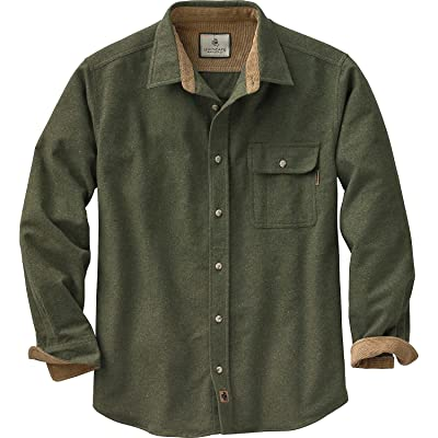 Legendary Whitetails Mens Buck Camp Flannel Shirt: Clothing