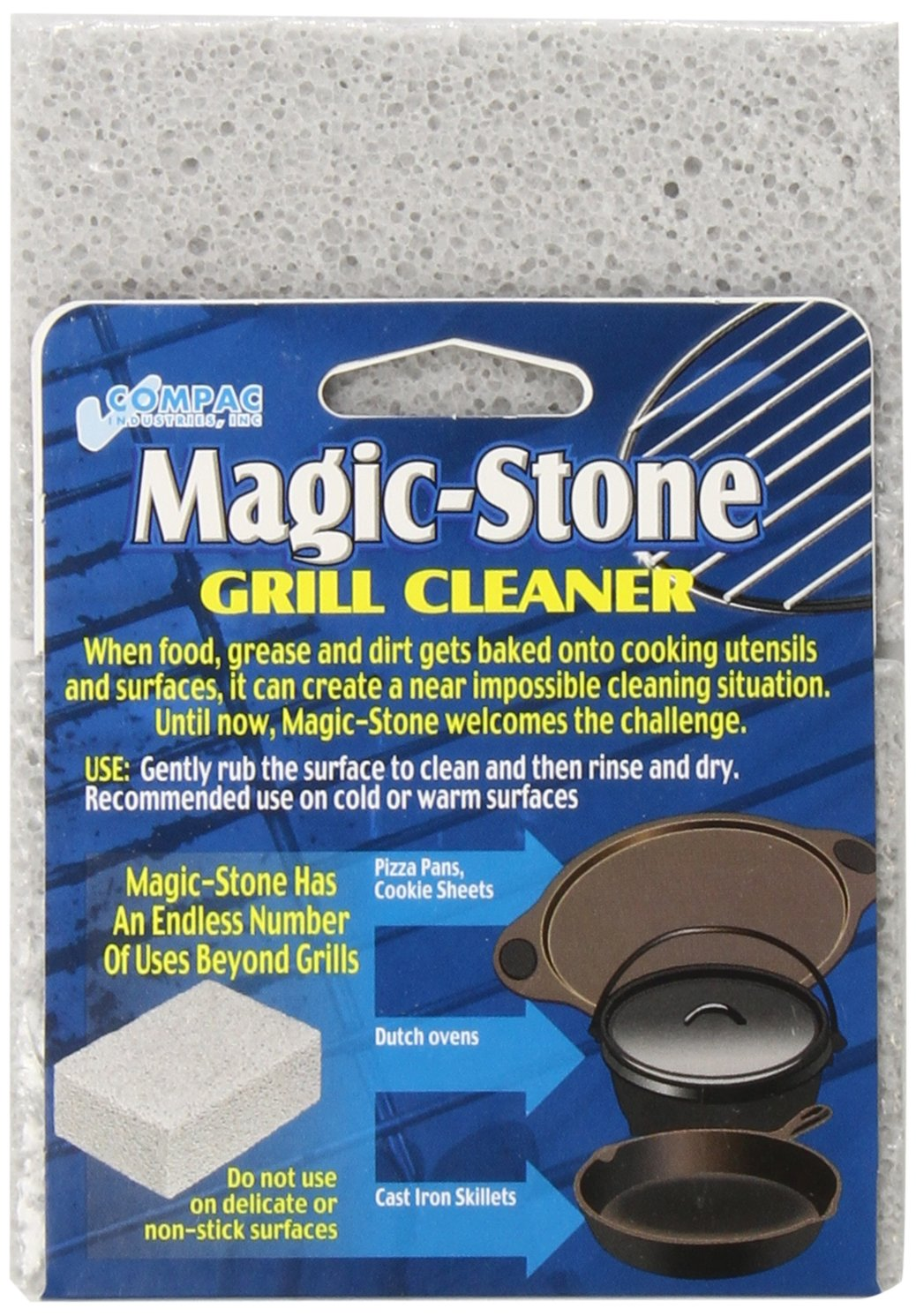 Amazon.com: Compac Magic Stone Grill Cleaner Scouring Brick 2 Count ...