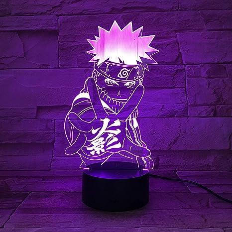 Naruto Goku Lámpara 3D Luz de Noche Lámpara LED de ...