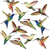 Pegatinas de gran tamaño para ventana de colibrí anticolisión para evitar golpes de pájaros en la ventana, de vinilo no…