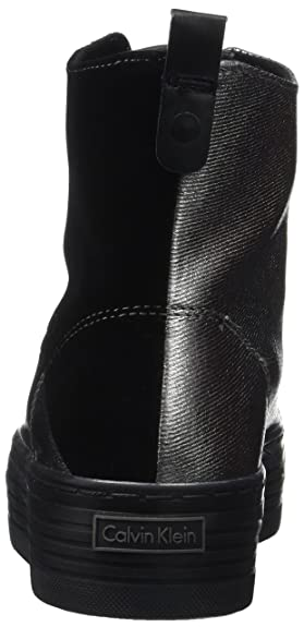 Para Zazah Zapatillas Klein Calvin Metal Canvasflocking Mujer CAX7Xwqgn5