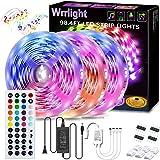 LED Strip Lights,98.4ft 30m 3X32.8ft Ultra-Long RGB Led Lights Strip 5050 LED Tape Lights Color Changing Rope Lights…